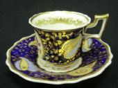 SOLD RIDGWAY Old english coffee cup & saucer c1820
